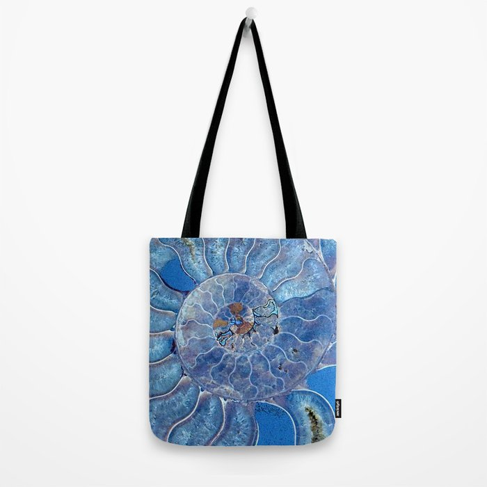 Blue seashell -mother-of-pearl - Beautiful backdrop Tote Bag