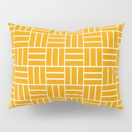 Basketweave (White & Orange Pattern) Pillow Sham