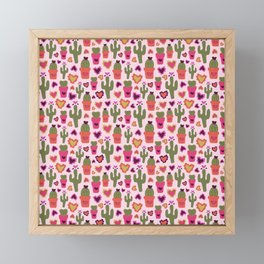 A Cactus for Valentines Framed Mini Art Print