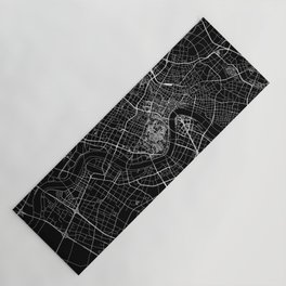 Shanghai Black Map Yoga Mat