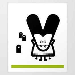 ABC: V Art Print