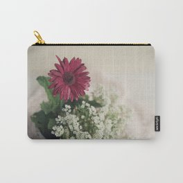 Soft Red Daisy Carry-All Pouch
