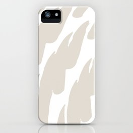 Neutral Abstract Brush Marks iPhone Case