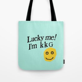 lucky to be kkg Tote Bag