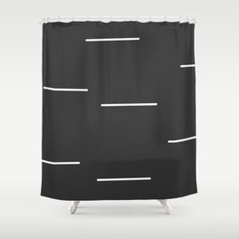 Black Mudcloth white dashes Shower Curtain