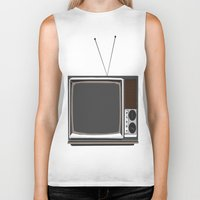 tv Biker Tanks featuring Television by Jarom Ward