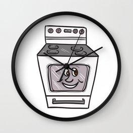 Oven Smiley Face Cartoon Wall Clock