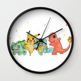 Pokemons Wall Clock