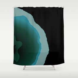 Bohemian Abstract Pink Brown Gemstone Shower Curtain