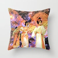 angels Throw Pillows featuring Angels by Saundra Myles