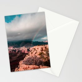 Rainbow over the Canyon Stationery Cards