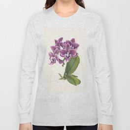 Purple Phalaenopsis Orchid Long Sleeve T-shirt