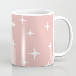 Mid Century Modern Star Pattern 443 Dusty Rose Coffee Mug