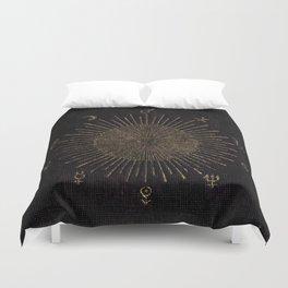 Astronomy Symbols Duvet Cover