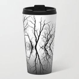 Silhouetted Beauty Black Travel Mug