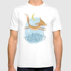 'Flying Fox' MEDIUM White Mens Fitted Tee