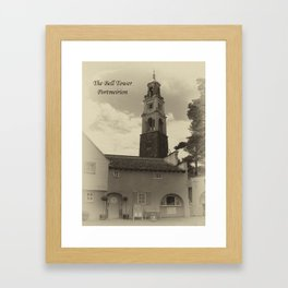 Portmeirion bell tower Framed Art Print