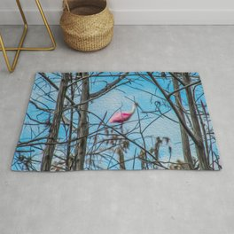 The Rose in the Tree Rug