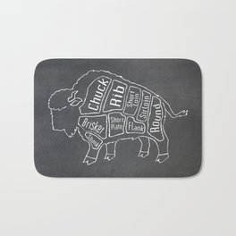 Buffalo Butcher Diagram (Meat Chart) Bath Mat