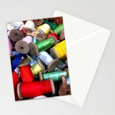 Vintage Ribbon Spools Stationery Cards