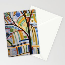 Abstract Art Original Landscape Painting ... The Sound of Sunshine Stationery Cards