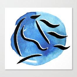 Spirit Horse {Blue Watercolor} Canvas Print