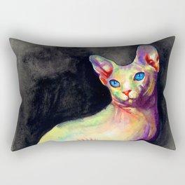 White Sphynx Rectangular Pillow
