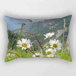 Camomiles in the Alps Rectangular Pillow