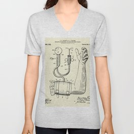 Apparatus for Measuring and Indicating Blood Pressure-1914 Unisex V-Neck