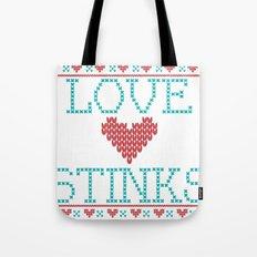 Love Stinks Cross Stitch Tote Bag