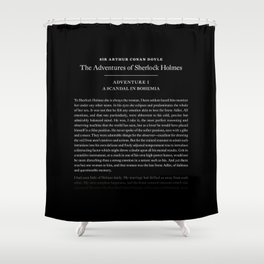 The Adventures of Sherlock Holmes by Sir Arthur Conan Doyle Shower Curtain