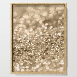 Champagne Gold Lady Glitter #2 #shiny #decor #art #society6 Serving Tray