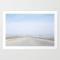 Crossing Le Gois Art Print