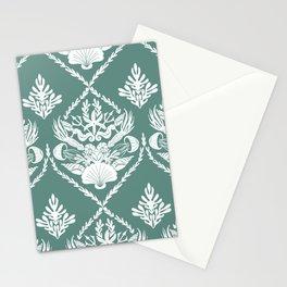 Neptune's joy reed damask Stationery Cards