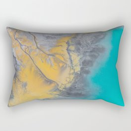 Turquoise World Rectangular Pillow