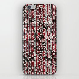 Linear Thinking Trip Switch (P/D3 Glitch Collage Studies) iPhone Skin