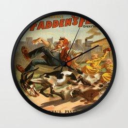 Vintage poster - McFadden's Flats Wall Clock
