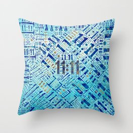 Eleven Eleven Numerology Pattern #1 Throw Pillow