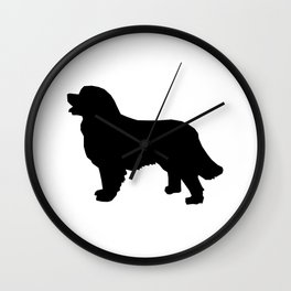 Bernese Mountain Dog silhouette black and white minimal dog gifts Wall Clock