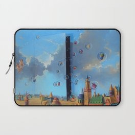 'The Door to Dreams,' magical realism landscape painting by Anastasiya Markovich Laptop Sleeve