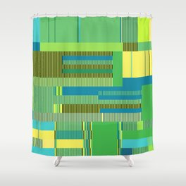Scandinavian Moon (Parrot Colours) Shower Curtain
