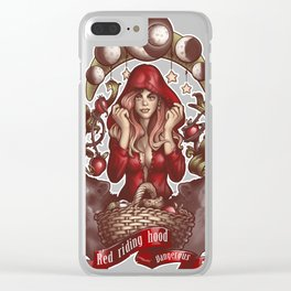 Red Riding Hood Clear iPhone Case