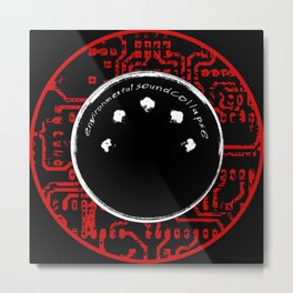 environmental sound collapse - MIDI/circuit board Metal Print