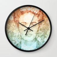 frida Wall Clocks featuring Frida  by Aivé Trujillo
