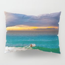 Surfing the Sunset Colors Pillow Sham