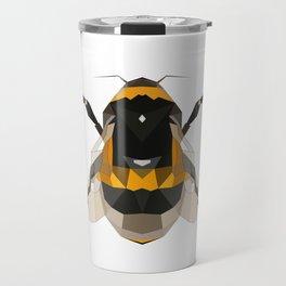Bumble bee artwork Geomeric art Yellow and black Bee Midern design Travel Mug