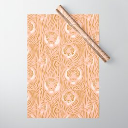 Tigers in Blush + Gold Wrapping Paper