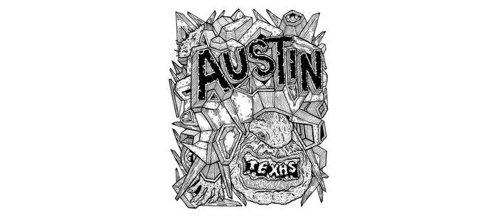 Geometric Mutations: Austin, TX Coffee Mug