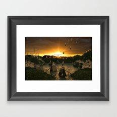 Pushpin Invasion Framed Art Print