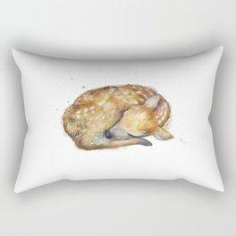 Sleeping Fawn Rectangular Pillow